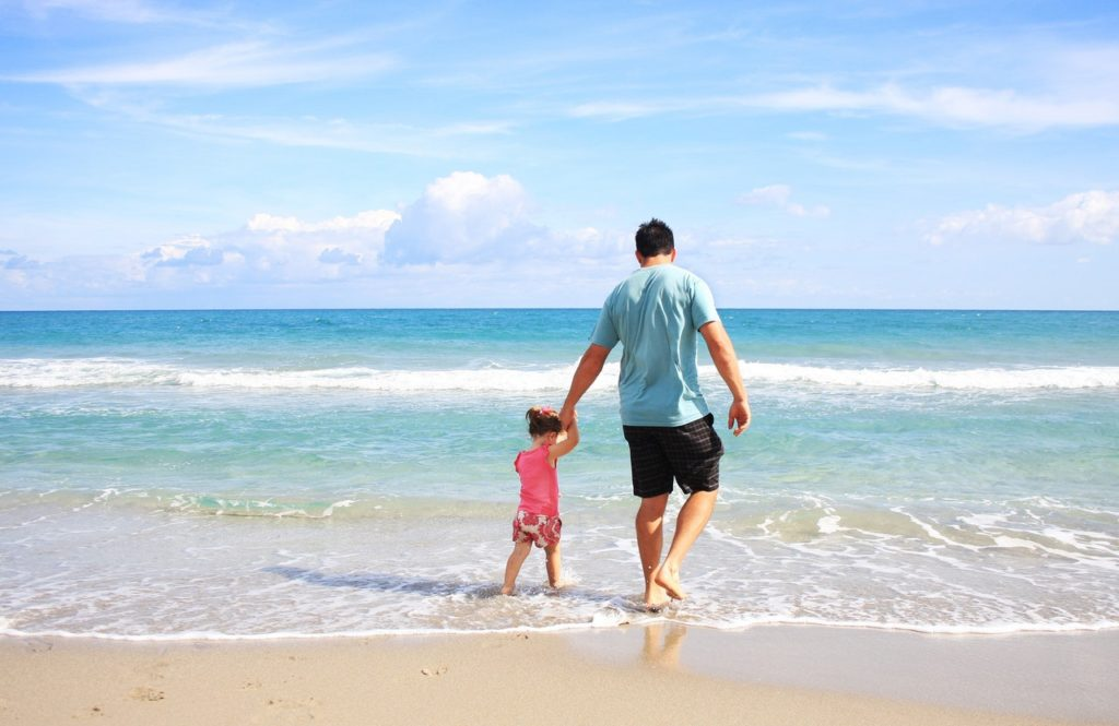 first family beach holiday - keeping kids safe from the sun