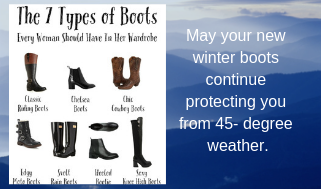seven types of boots