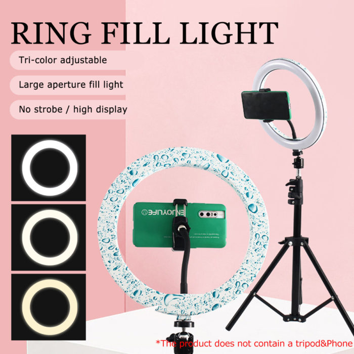 10 Inch LED Ring Light Fill Light For Makeup Streaming Selfie Beauty Photography Makeup Mirror