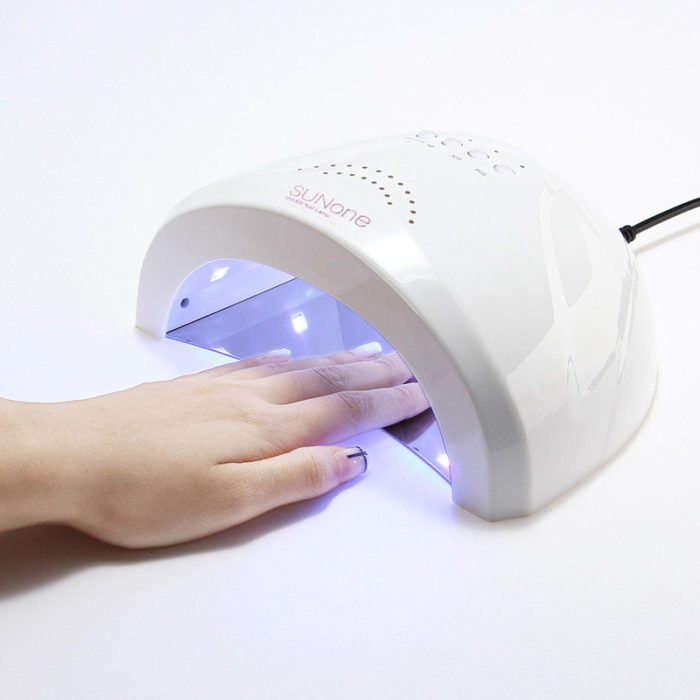 100-240V White Nail Dryer LED UV Lamp Gel Polish Fingernail Toenail Curing Salon Tools