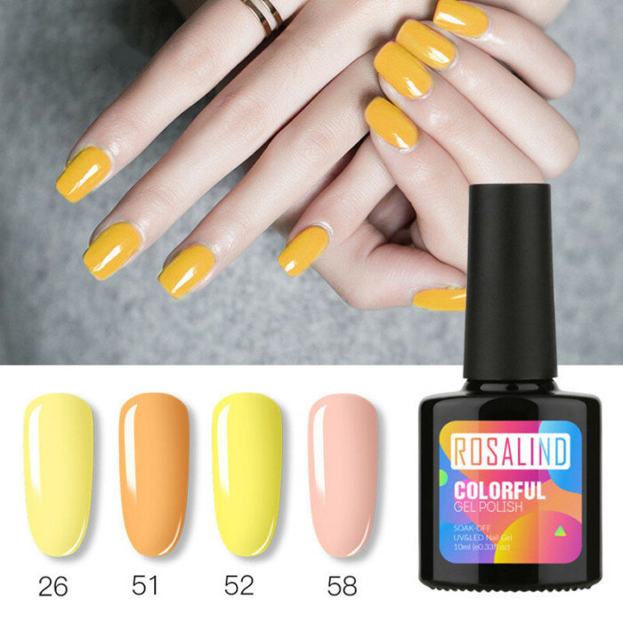10ML Gel Nail Polish 58 Colors Solid Color UV Nail Glue For Nail Art Lacquer Vernis Semi Permanent Acryl Gel Varnishes T