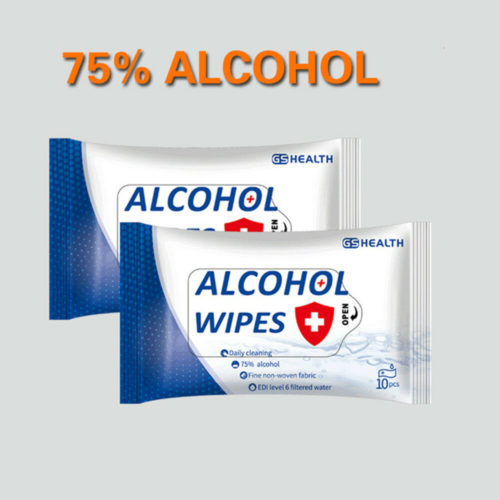 10PCS Portable Alcohol Sterilization Wipes Disinfection Antiseptic Alcohol Pads Swabs Wet Wipes