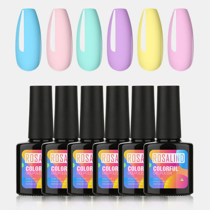 10ml Gel Nail Polish Set Fluorescent Nail Kit For Nail Art Lacquer Vernis Semi Permanent Acryl Gel Varnishes Top Coat