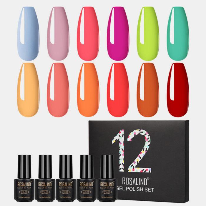12PCS Gel Polish Set For Manicure UV Colors Gel Nail Polish Semi Permanent Nail Art Gel Varnish Set