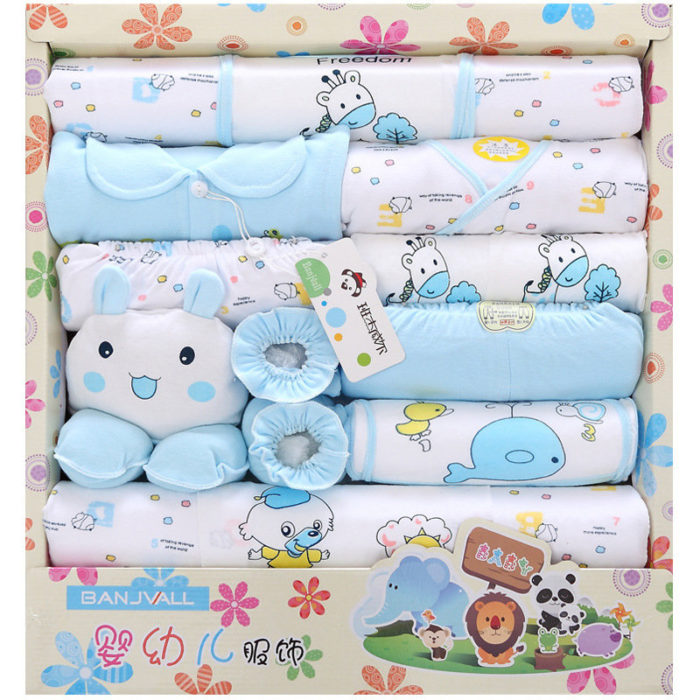 18Pcs Newborn Baby Shower Gift Box Clothing Set + Accessories For 0-6M