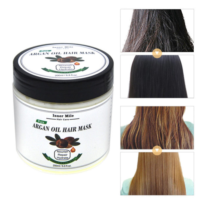 200ml Argan Oil Hair Mask Steam-Free Hair Care Repair Hair Damage Hair Scalp Treatment Hair Care