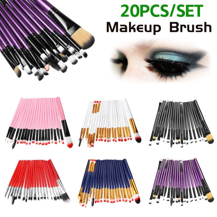 20Pcs Professional Makeup Brushes Cosmetic Synthetic Hair Brushes Kit Set
