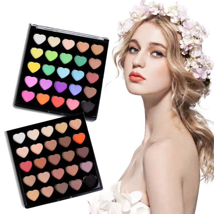 25 Colors Makeup eyeshadow Palette Matte Shimmer Eye shadow Earth Color Eye Makeup Nude Color