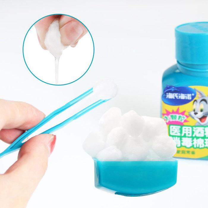 25Pcs/Box Disposable Alcohol Cotton Balls Household Disinfection Sterilization Alcohol-pads