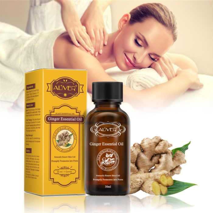 30ml Natural Ginger Massage Essential Oil Fever Massage Remove Dampness Meridian Therapy Body Lotion