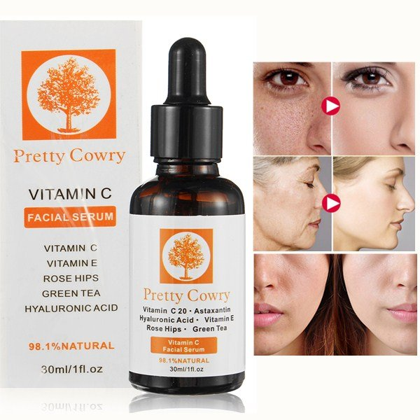 30ml Vitamin C Essence Anti Aging Whitening Moisturizing Natural Facial Skin Care Serum Face Care