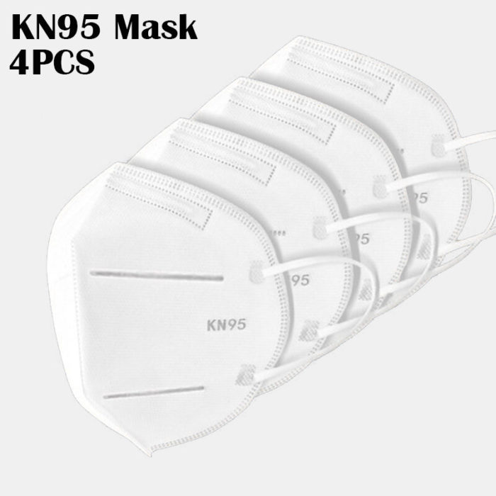 4 Pieces / Pack 0f KN95 Masks Passed The GB-2626-KN95 Test PM2.5 Filter Respiratory Protective Mask