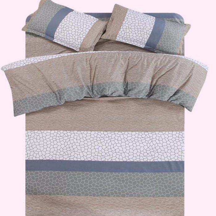 4pcs Elegant Bedding Set Pillowcase Quilt Duvet Cover Flat Sheet Noble Twin Queen Size