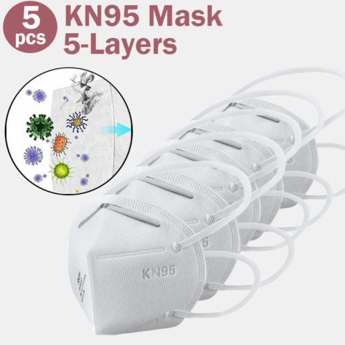 5 PCS / Pack Mask 0f KN95 Masks Passed The GB-2626-KN95 Test PM2.5 Filter Mask