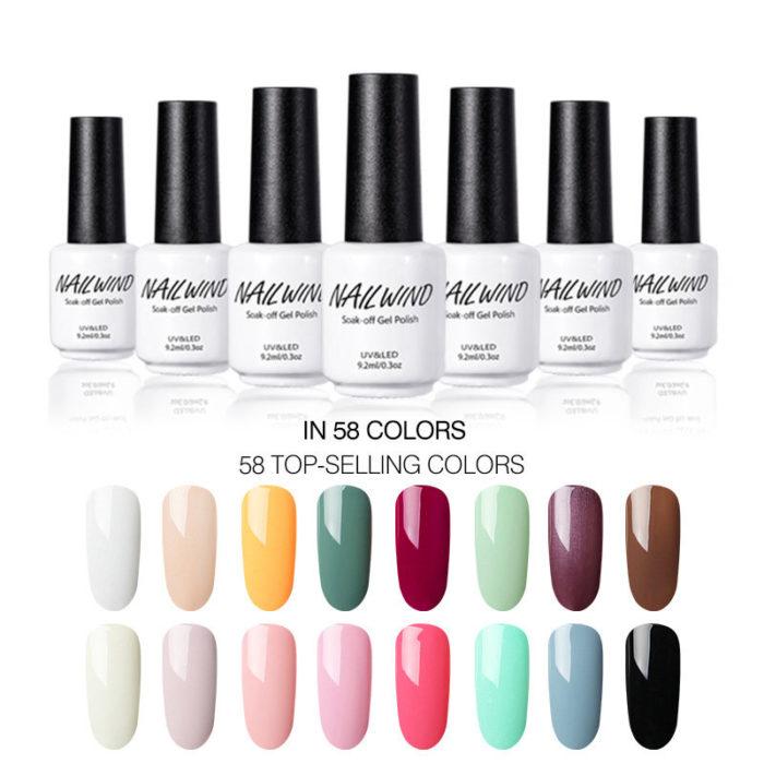 58 Colors Multi-color Professional Nail Polish Solid Color Pearlescent Long Lasting Nail Glue