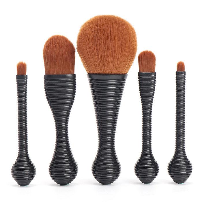 5Pcs Makeup Brushes Set Professional Sexy Lollipop Foundation Eye Shadow Brush Tool