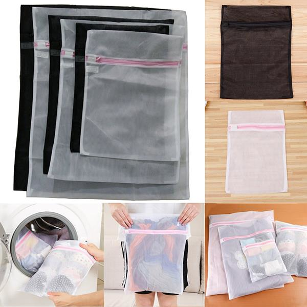 6Pcs/1 Set Fine Mesh Wash Bags Laundry Washing Bag Underwear Lingerie Washing Bag