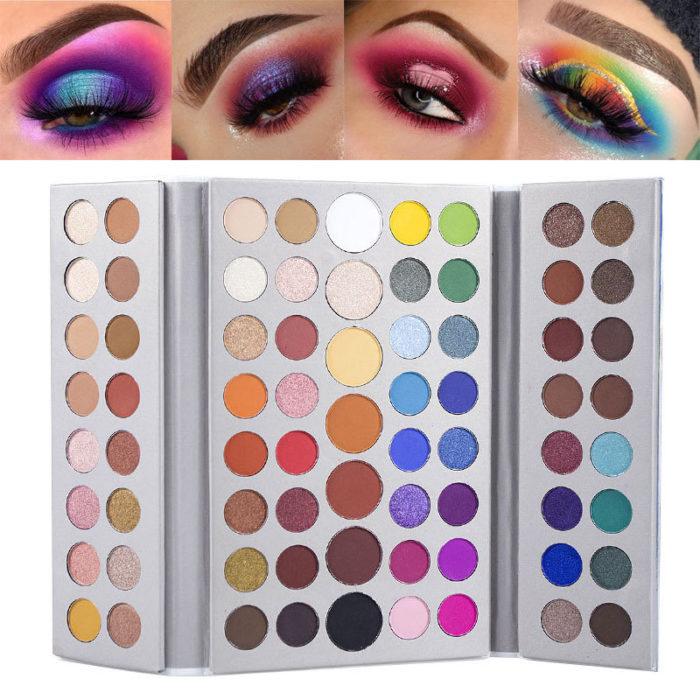 71 Colors Nude Matte Eyeshadow Palette Rainbow Pearlescent Color Eyeshadow Long-Lasting Eye Makeup