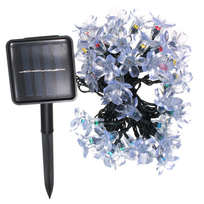 7M 50LED Outdoor Solar String Light IP65 Waterproof Garden Path Yard Landscape Lamp Home Party Decor