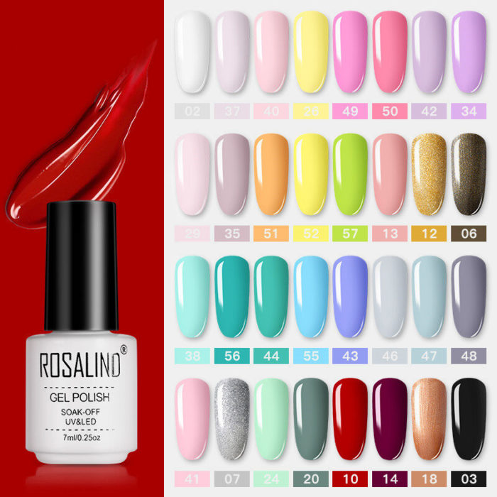 7ml Phototherapy Nail Polish Gel High Quality Solid Color Professional Nail Art UV Gel