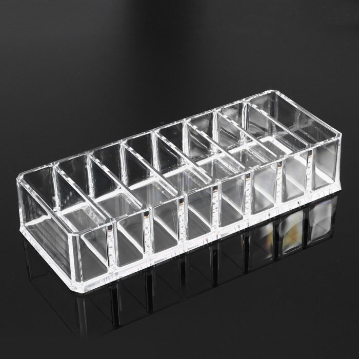 8 Slot Clear Acrylic Compact Holder Powder Blush Storage Makeup Case Organiser