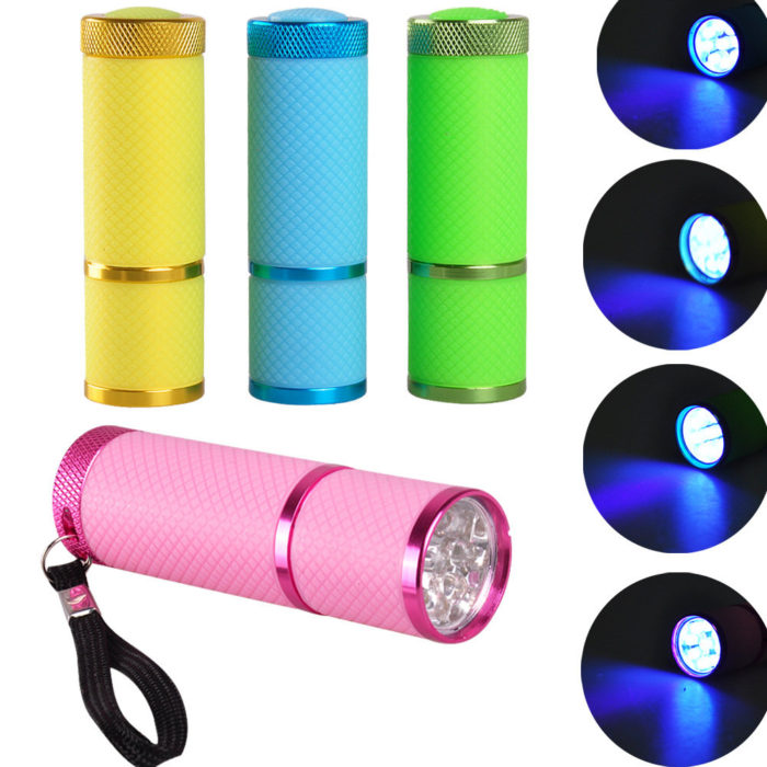 9 LED Flashlight Mini Gel Polish UV LED Nail Lamp 30s Fast Drying Nails Art Curing Portable Tools