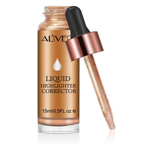 ALIVER Liquid Highlighter Glowing Highlight Women Dark Skin Contouring Face Brighten