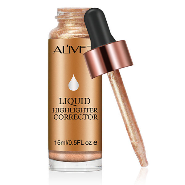 ALIVER Liquid Highlighter Glowing Highlight Women Dark Skin Contouring Face Brighten