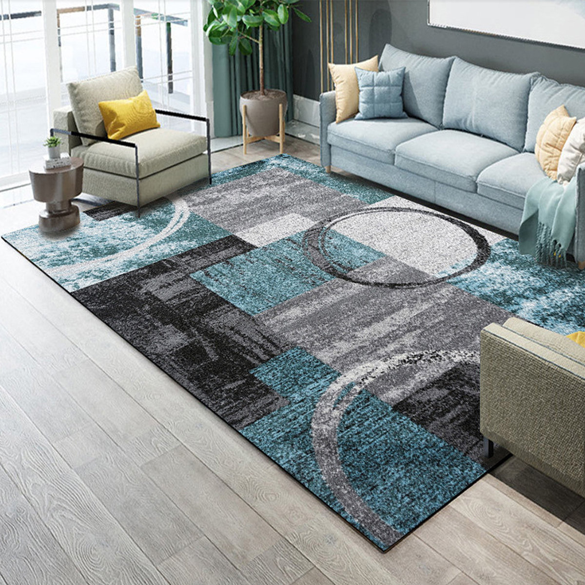 Abstract Extra Small Large Modern Area Rugs Floor Carpet ...