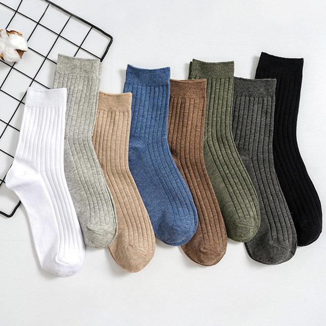 Ankle Socks Men's Socks Wild Solid Color Draw Men's Tube Socks Cotton Business Sports Socks