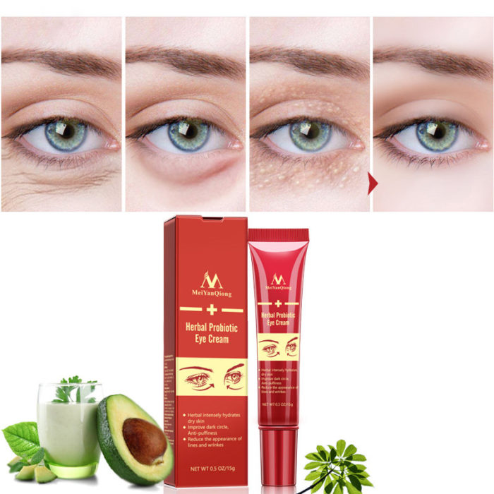 Anti-Aging Eye Cream Herbal Probiotic Improve Dark Circle Hydrate Anti-Puffiness Reduce Face Wrinke
