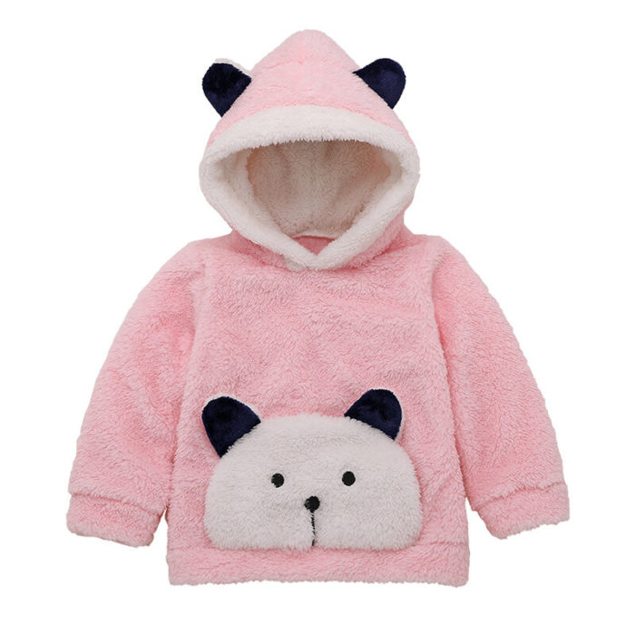 Baby Cute Panda Long Sleeves Casual Cashmere Winter Sweater For 0-24M