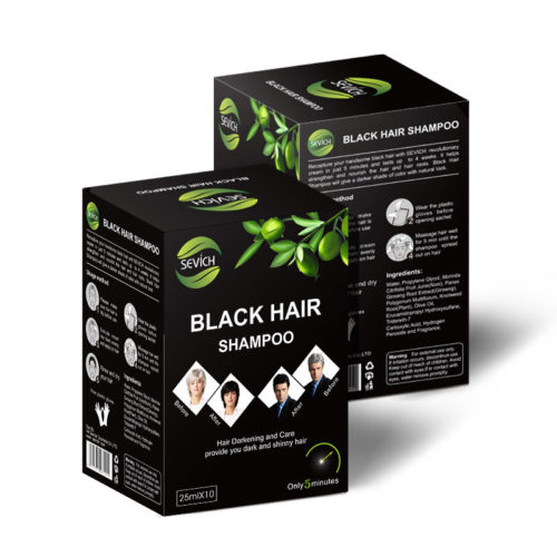 Black Hair Shampoo Long Lasting Color Easy To Color Wash Black Hair Dye