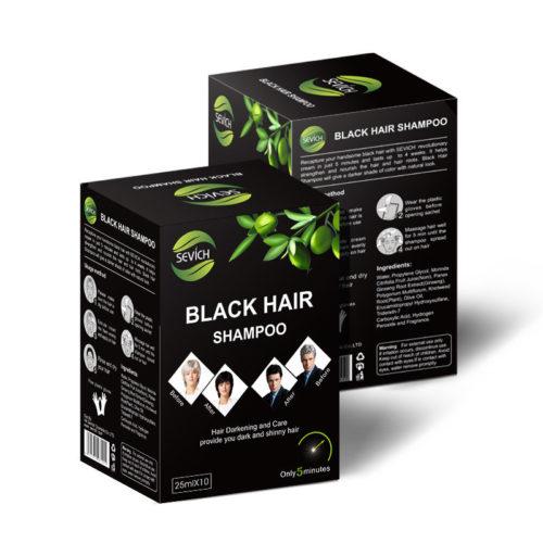 Black Hair Shampoo Long Lasting Color Easy To Color Wash Black Hair Dye