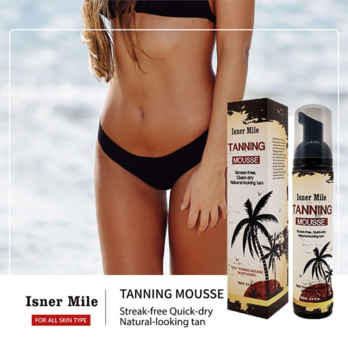 Body Self Tanners CreamSummer Wheat Color Streak-free Tanning Mousse for Bronzer