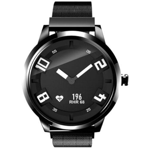 Business Milanese Steel Luminous Watch 8ATM Heart Rate Sleep Monitor 45Days Standby Smart Watch