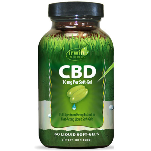 CBD 10 mg Per Soft-Gel, 60 Liquid Soft-Gels, Irwin Naturals