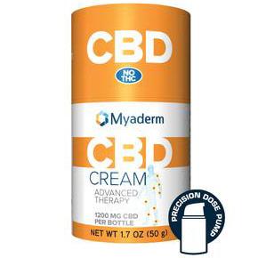 CBD Advanced Therapy Cream (Pain Cream), 50 g (1.7 oz), Myaderm