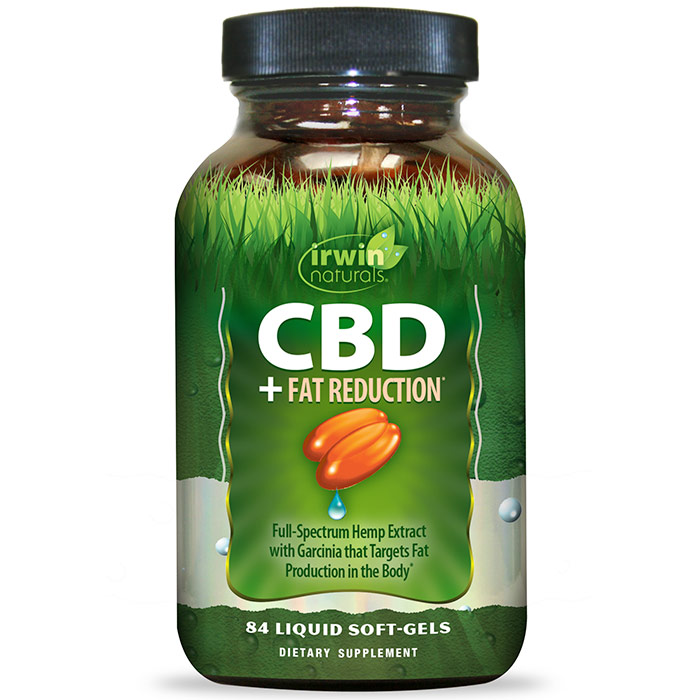 CBD + Fat Reduction, 84 Liquid Soft-Gels, Irwin Naturals
