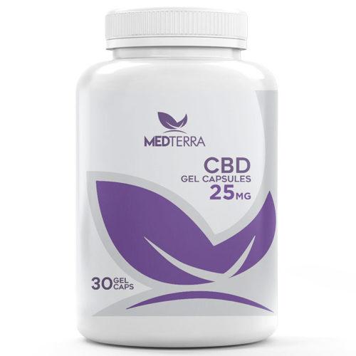 CBD Gel Capsules 25 mg, 30 Capsules, Medterra