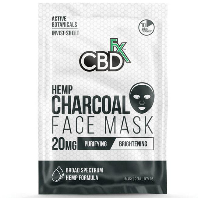 CBD Hemp Charcoal Face Mask, 20 Pack, CBDfx