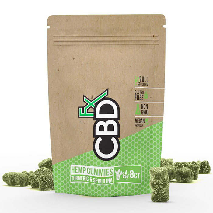 CBD Hemp Gummies with Turmeric & Spirulina Trial Size, 8 ct, CBDfx