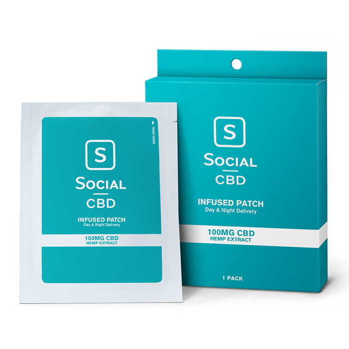 CBD Infused Transdermal Patch, 100 mg, 1 Pack, Social CBD
