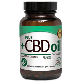 CBD Oil 10 mg, Value Size, 60 Capsules, PlusCBD Oil
