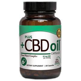 CBD Oil 10 mg, Value Size, 60 Capsules, PlusCBD Oil