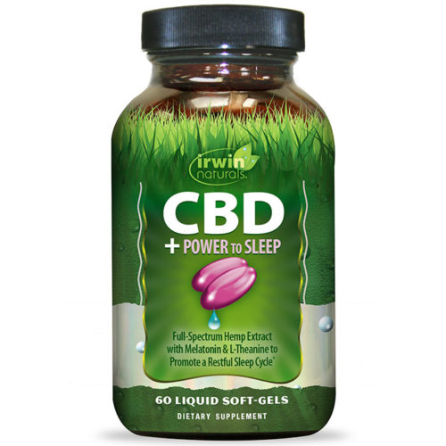 CBD + Power to Sleep, 60 Liquid Soft-Gels, Irwin Naturals