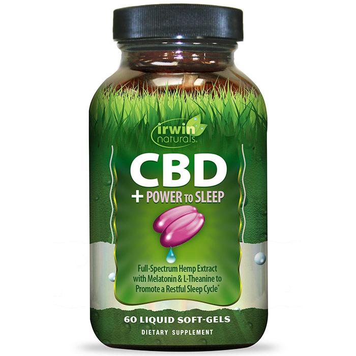 CBD + Power to Sleep, 60 Liquid Soft-Gels, Irwin Naturals