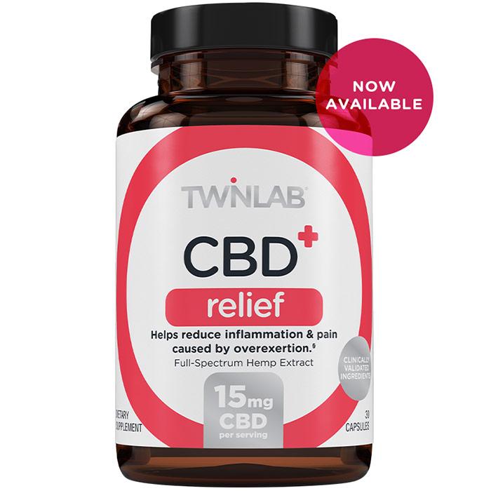 CBD+ Relief, 30 Capsules, TwinLab