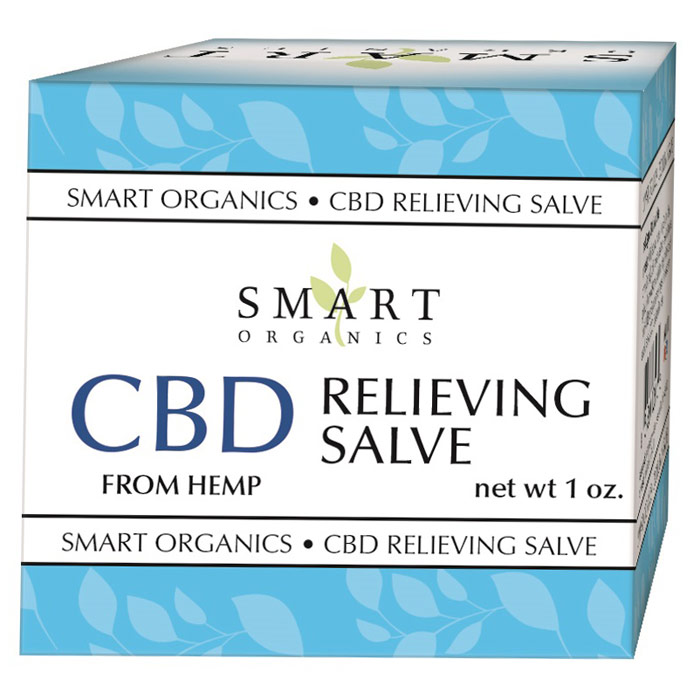 CBD Relieving Salve, 1 oz, Smart Organics