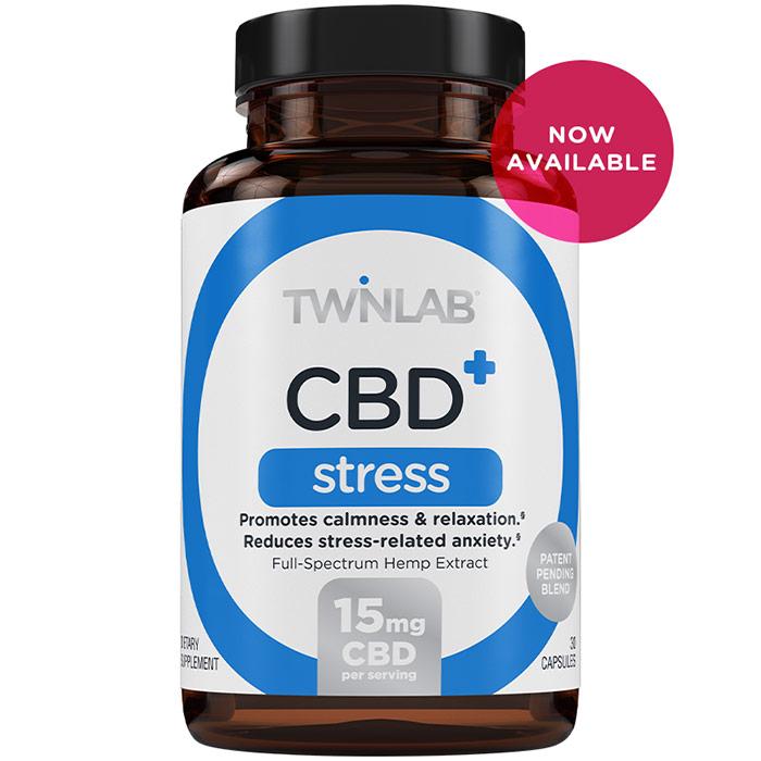 CBD+ Stress, 30 Capsules, TwinLab